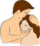 Kus met liefde vector illustratie