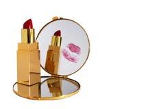 Kus in spiegel Royalty-vrije Stock Afbeelding