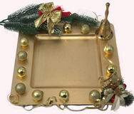 Christmas plate with decorations. Stock Images