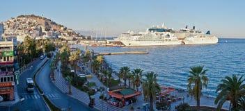 Kusadasi. TURKEY - SEPTEMBER 29: Early morning in tourist resort on Turkey's Aegean coast on September 29, 2011 in Stock Images