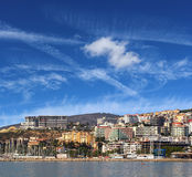 Kusadasi. Beautiful view of picturesque Kusadasi - one of the most known touristic places in Turkey Stock Image