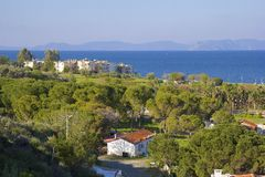 Kusadasi coastline in Turkey Royalty Free Stock Image