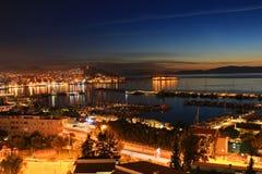 Kusadasi in the evening, Turkey stock photography
