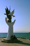 Kusadasi hand statue Stock Images