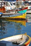 Kusadasi port. Fishing boats in the Kusadasi harbor Stock Images