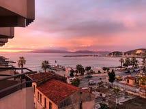 Kusadasi Sonnenuntergang lizenzfreies stockbild