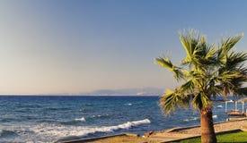 Kusadasi turkey beachfront and sea views. The nearest national park stock image