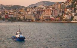 Kusadasi, Turquía en el amanecer Foto de archivo libre de regalías