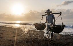 Kusamba salt farmer Bali Stock Photo