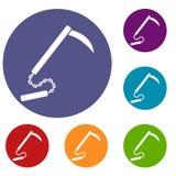 Kusarigama icons set Stock Image