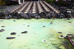 Kusatsu hot spring in Japan. The source of hot spring , Kusatsu hot spring in Japan Stock Image