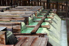 Kusatsu hot spring in Japan. The source of hot spring , Kusatsu hot spring in Japan Royalty Free Stock Image