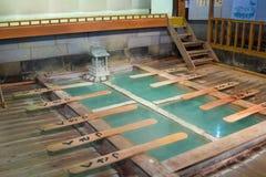 Kusatsu Onsen是一个日本多数著名温泉手段 图库摄影