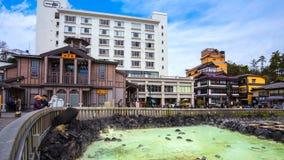 Kusatsu Onsen в Gunma, Японии стоковая фотография