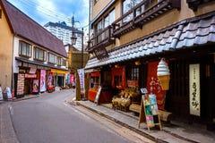 Kusatsu Onsen в Gunma, Японии стоковые фотографии rf