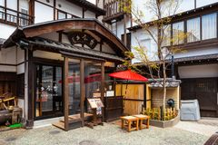 Kusatsu Onsen в Gunma, Японии стоковые изображения rf