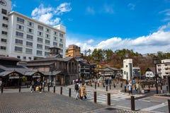 Kusatsu Onsen en Gunma, Japón fotografía de archivo