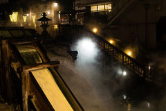 Kusatsu onsen. Famous hot spring resort in Gunma Prefecture, Japan Royalty Free Stock Image