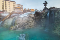 Kusatsu Onsen at Gunma in Japan. Kusatsu Onsen is one of Japan most famous hot spring resorts and is blessed with large volumes of high quality hot spring water Stock Image