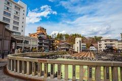Kusatsu Onsen w Gunma, Japonia zdjęcia royalty free
