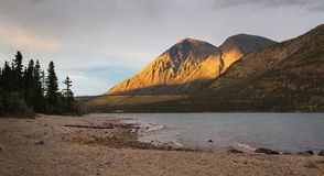 Kusawa lake, Yukon Stock Photography