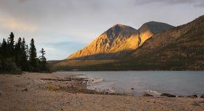Kusawa lake, Yukon stock photography