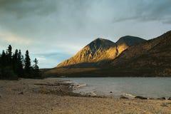 Kusawa lake, Yukon Royalty Free Stock Images