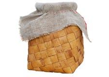 Kushel - старое русское заплетенное портмоне берез-расшивы Стоковые Фото