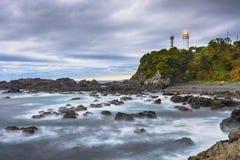 Kushimoto, Japonia przy Shionomiasaki przylądkiem obrazy royalty free