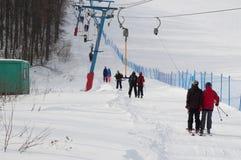 Kushtau ośrodek narciarski Zdjęcia Stock
