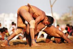 Kushti Kampf, Indien stockbilder