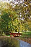 Kuskovo公园在莫斯科在秋天 库存图片