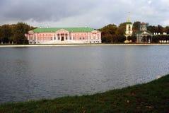 Kuskovo公园在莫斯科 宫殿,木大厦 库存图片