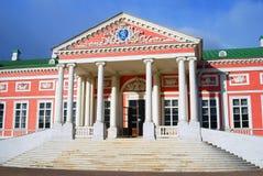 Kuskovo公园在莫斯科 宫殿,木大厦 免版税库存照片