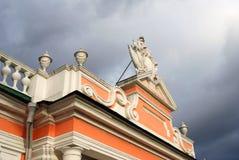 Kuskovo公园在莫斯科 宫殿,木大厦 免版税库存图片