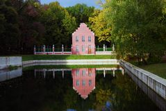 Kuskovo公园在莫斯科 荷兰语房子 库存照片