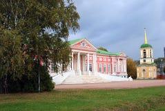 Kuskovo公园在莫斯科 免版税库存照片