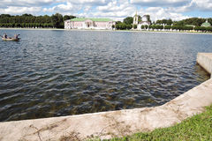 Kuskovo公园在莫斯科 免版税库存图片
