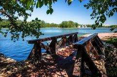 Kuskovo bridge Stock Photos