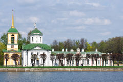 Kuskovo.Church of the Merciful Saviour. Moscow royalty free stock photo