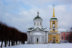 Kuskovo church, Moscow, Russia Stock Photography