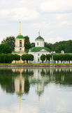 Kuskovo estate, Moscow: church and bell tower Royalty Free Stock Images
