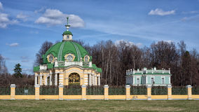 Kuskovo. The Grotto in the residence of Sheremetevs Kuskovo on a spring sunny day. Moscow, Russia Stock Photos