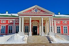 Big Palace in Kuskovo Royalty Free Stock Images