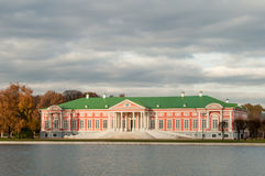 Kuskovo. Moscow Russia. Estate building near the lake Stock Photography