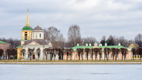 Kuskovo. Moscow, Russia, Kuskovo park and ice pond Stock Images