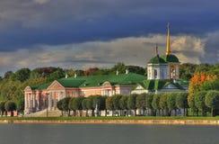 Kuskovo palace panorama HDR. At autumn Stock Images