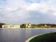 Kuskovo park in Moscow at dawn. Stock Photos