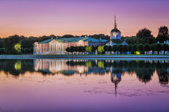 Kuskovo Park in Moscow at sunset Stock Images