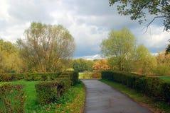 Kuskovo park w Moskwa w jesieni Obraz Stock